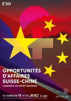 Opportunités d'affaires entre la Suisse et la Chine :l'exemple du sport business