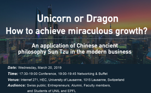 Unicorn or Dragon: How to achieve miraculous growth?An application of Chinese ancient philosophy Sun Tzu in the modern business
